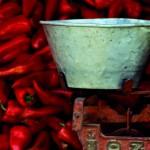 Rote Paprika mit Waage Türkei